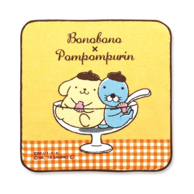 ぼのぼの×ポムポムプリン タオル(パフェ)