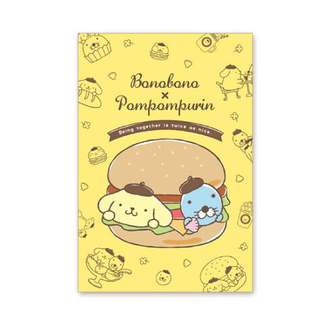 ぼのぼの×ポムポムプリン ポストカード(ハンバーガー)