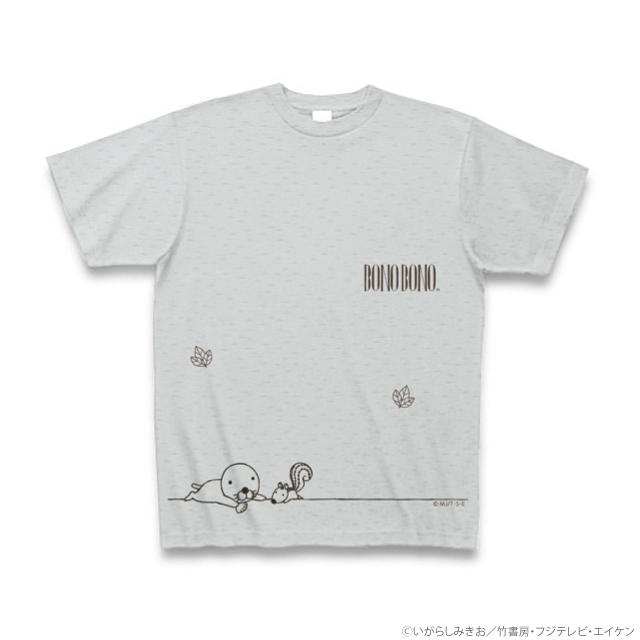 ぼのぼのTシャツ グレー