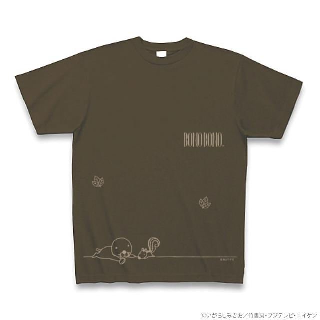 ぼのぼのTシャツ オリーブ