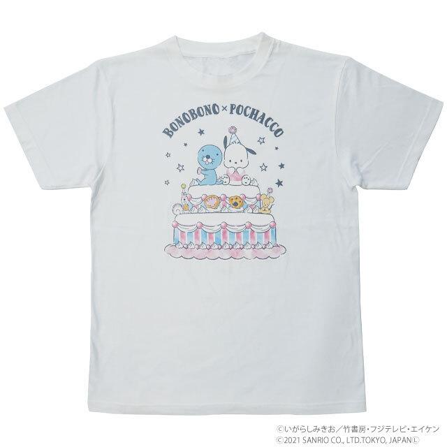 BONOBONO×POCHACCO Tシャツ ケーキ/HW