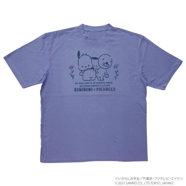 BONOBONO×POCHACCO ビッグTシャツ フタリ/DBL