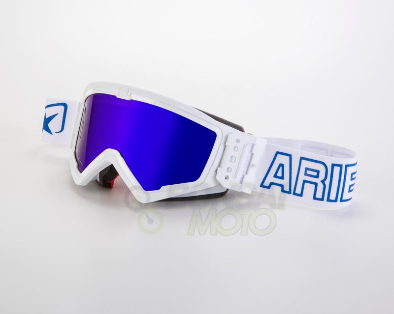 マッドマックス [ユーロフィット] 眼鏡対応オフロードゴーグル White/Blue