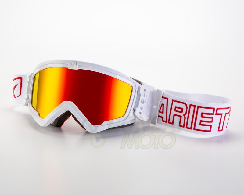 マッドマックス [ユーロフィット] 眼鏡対応オフロードゴーグル White/Red