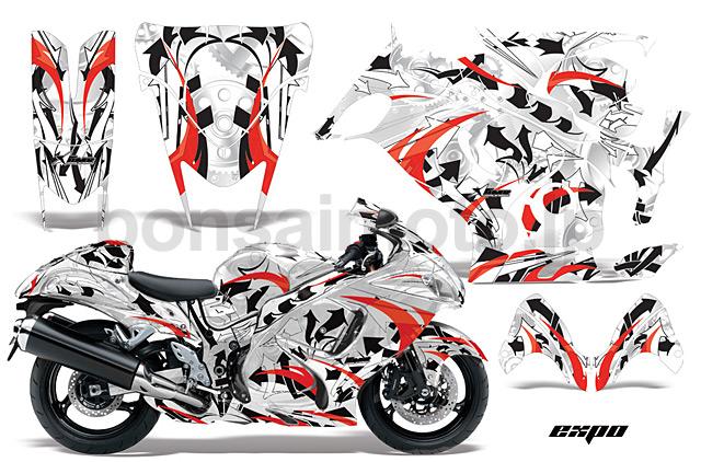 Suzuki GSXR 1300 Hayabusa Sport Bike Graphic Kit (08-12) AMRデカール コンプリートキットSPORTSBIKE