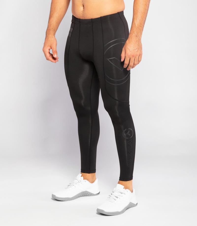 【定番】ロングパンツ コンプレッション(SiO9) VIRUS メンズ Stay Warm 暖速乾 ブラック【新型】