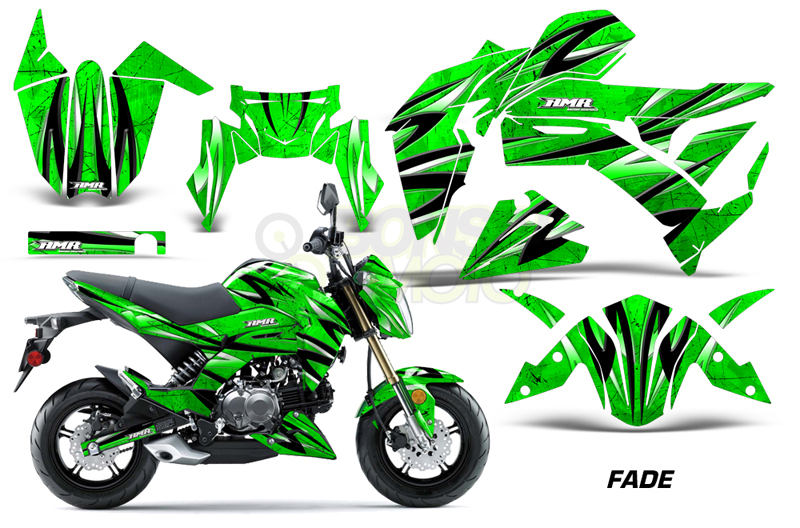 Kawasaki Z125 Sport Bike Graphic Kit (17) AMRデカール コンプリートキット