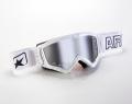 マッドマックス [ユーロフィット] 眼鏡対応オフロードゴーグル White/Silver