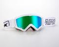 マッドマックス [ユーロフィット] 眼鏡対応オフロードゴーグル White/Green
