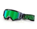 マッドマックス [ユーロフィット] 眼鏡対応オフロードゴーグル Black/Green