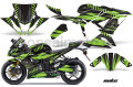 Kawasaki 636 ZX6R Sport Bike Graphic Kit (13-14) AMRデカール コンプリートキットSPORTSBIKE