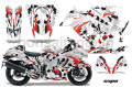 Suzuki GSXR 1300 Hayabusa Sport Bike Graphic Kit (08-12) AMRデカール コンプリートキットSPORTSBIKE