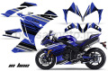 Yamaha YZF-R1 Sport Bike Graphic Kit (10-13) AMRデカール コンプリートキットSPORTSBIKE