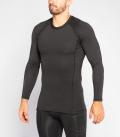 【定番】ロングスリーブ コンプレッション(SiO2) VIRUS メンズ Stay Warm 暖速乾 ブラック
