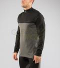 ロングスリーブ (SiO14) VIRUS メンズ Stay Warm 暖速乾 ブラックグレー