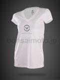 VネックTシャツ(The 1) VIRUS ウィメンズ Stay Cool 冷速乾 ホワイト