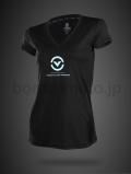 VネックTシャツ(The 1) VIRUS ウィメンズ Stay Cool 冷速乾  ブラック