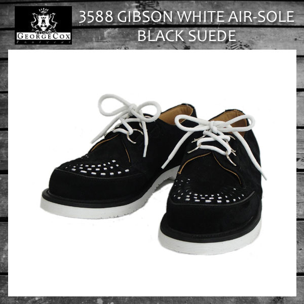 正規取扱 George Cox(ジョージコックス)  3588 WHITE AIR SOLE エアーソール 12030 D-RING GIBSON ギブソン ブラックスエード