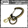 gancho(ガンチョ) KEY CHAIN キーチェーン KC027 アンティーク