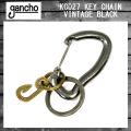 gancho(ガンチョ) KEY CHAIN キーチェーン KC027 ビンテージブラック