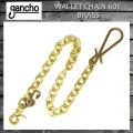 正規取扱 gancho(ガンチョ) WALLET CHAIN ウォレットチェーン601 ブラス