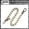 正規取扱 gancho(ガンチョ) WALLET CHAIN ウォレットチェーン605  ミリタリー