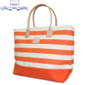 正規取扱店 HERITAGE LEATHER CO.(ヘリテージレザー) NO.8150 Boarder Print Tote Bag(トートバッグ) Natural/Orange HL106