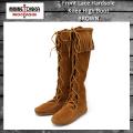 正規取扱店 MINNETONKA(ミネトンカ) Front Lace Hardsole Knee High Boot(フロントレースニーハイブーツ)#1422 BROWN MT049