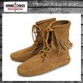 正規取扱店 MINNETONKA(ミネトンカ)Tramper Ankle Hi Boot(トランパー アンクルハイブーツ)#427T TAUPE レディース MT026