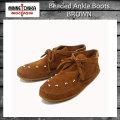 正規取扱店 MINNETONKA(ミネトンカ) Beaded Ankle Boots(ビーズアンクルブーツ)#512 BROWN SUEDE レディース MT216