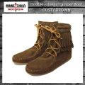 正規取扱店 MINNETONKA(ミネトンカ)Double FringeTramper Boot(ダブルフリンジ トランパーブーツ)#623 DUSTY BROWN レディース MT034