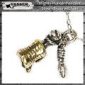 VASSER(バッサー)Mighty Hunter Pendant Silver×Brass(マイティーハンターペンダントシルバー×ブラス) w/Chain