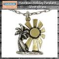 VASSER(バッサー)Hawaiian Holiday Pendant SilverxBrass(ハワイアンホリデイペンダントシルバーxブラス) w/Chain
