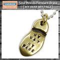 VASSER(バッサー)Soul Words Pendant Brass(ソウルワーズペンダントブラス) w/Chain [MY WAY MY PACE]