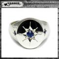 VASSER(バッサー)Triple Starburst Ring Silver w/Sapphire (トリプルスターバーストリング サファイヤ)