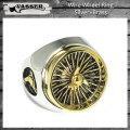 VASSER(バッサー)Wire Wheel Ring Silver×Brass(ワイヤーホイールリングシルバー×ブラス)