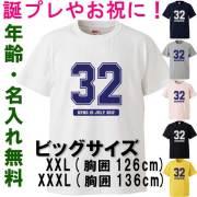 ビッグサイズ Tシャツ 名入れ  半袖Tシャツ カレッジ プレゼント 還暦 三十路 四十路 大きいサイズ メンズ レディース 大人 【メール便送料無料】