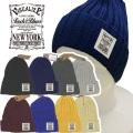 ニット帽【メール便送料無料】8カラー/VISUALIZE(kn06) 綿100% ワッチキャップ 帽子/CAP【メンズ】 アメカジ・きれい目・ストリート