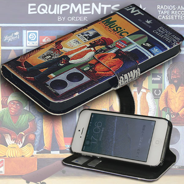 iPhone6/6s iPhone7 iPhone8  iPhoneX 【手帳型  カバー】【メール便OK】【for iPhone Diary】スマホケース 手帳タイプ【Reggae / レゲエ】/楽天カード分割