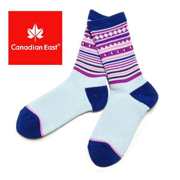Canadian East カナディアンイースト アウトドアハイ ソックス レディース登山 靴下  22-24cm CEA1033 SAX サックス
