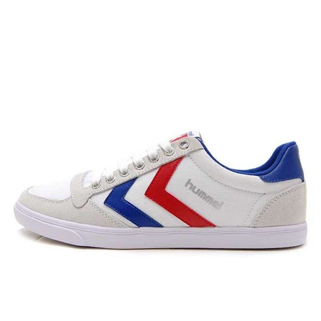 ヒュンメル hummel スニーカー ローカット メンズ レディース Slimmer Stadil Low Canvas White Blue Red HM63112K-9228【hummel loves music】【フレンズ MINT mate box SHE IS SUMMER】