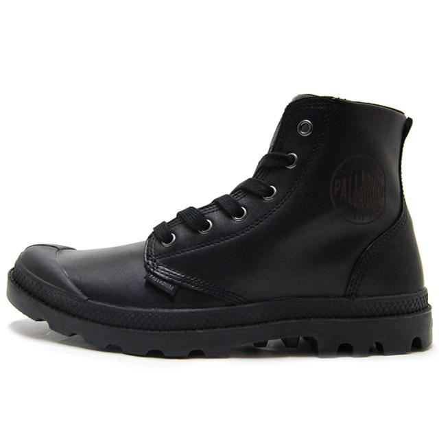 PALLADIUM パラディウム シューズ 靴 スニーカー アーミー ミリタリー ブーツ Pampa Hi Leather パンパ ハイ レザー Black 02355-001