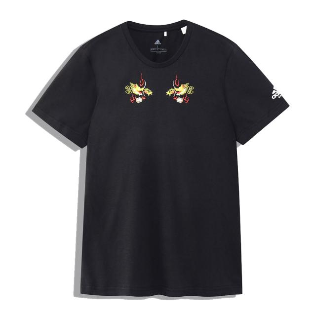 アディダス adidas 日本限定 スカジャン風 Tシャツ メンズ ラグビー ウェア トップス Tシャツ BLACK FSQ97-DU8448