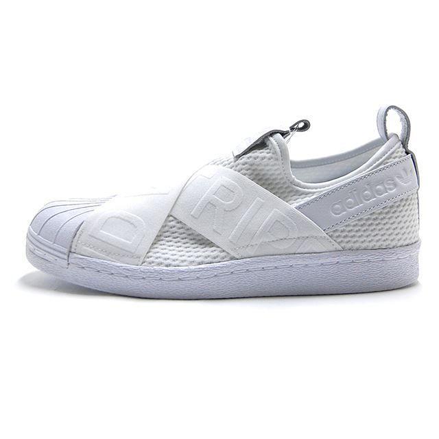 アディダス adidas スニーカー レディース SUPERSTAR SLIPON W スパースター スリッポン ホワイト CQ2381