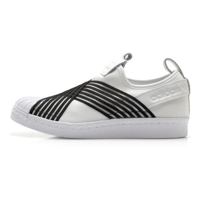 アディダスオリジナルス SS スリッポン W adidas Originals SS Slip On W ランニングホワイト/コアブラック/ローインディゴ S レディース スニーカー【スリッポン シェルトゥシューズ】 CG6013