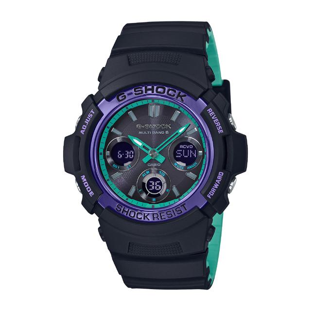 G-SHOCK ジーショック CASIO カシオ メンズ 腕時計 BLACK & 90s Color AWG-M100SBL-1AJF [G-SHOCK/ジーショック/電波ソーラー/腕時計]