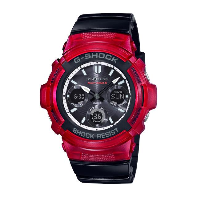 G-SHOCK ジーショック CASIO カシオ メンズ 腕時計 Red & Black AWG-M100SRB-4AJF [G-SHOCK/ジーショック/腕時計/電波ソーラー/防水]