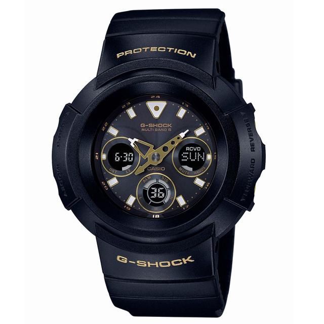 G-SHOCK ジーショック CASIO カシオ メンズ 腕時計 Black & Gold Series ブラック&ゴールドシリーズ AWG-M510SBG-1AJF [20気圧防水/電波時計/タフソーラー/アナログ/国内正規販売店/Authorized Dealer]