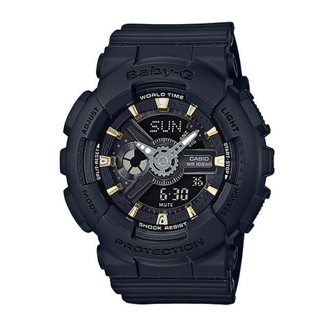 Baby-G ベビージー ベビーG レディース 腕時計 CASIO カシオ BA-110GA-1AJF [ブラック/黒/マット/国内正規販売店/Authorized Dealer]