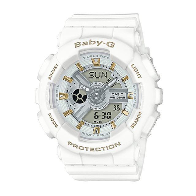 Baby-G ベビージー ベビーG レディース 腕時計 CASIO カシオ BA-110GA-7A1JF [ホワイト/白/マット/国内正規販売店/Authorized Dealer]